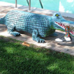 Alligator Park Bench