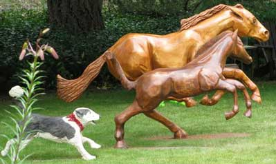 Beautiful Hand Carved and Built Horses